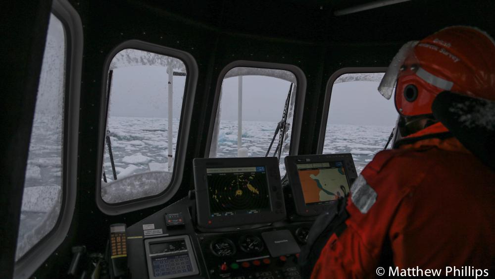 South georgia, Antarctica, Navigating sea ice, small boats