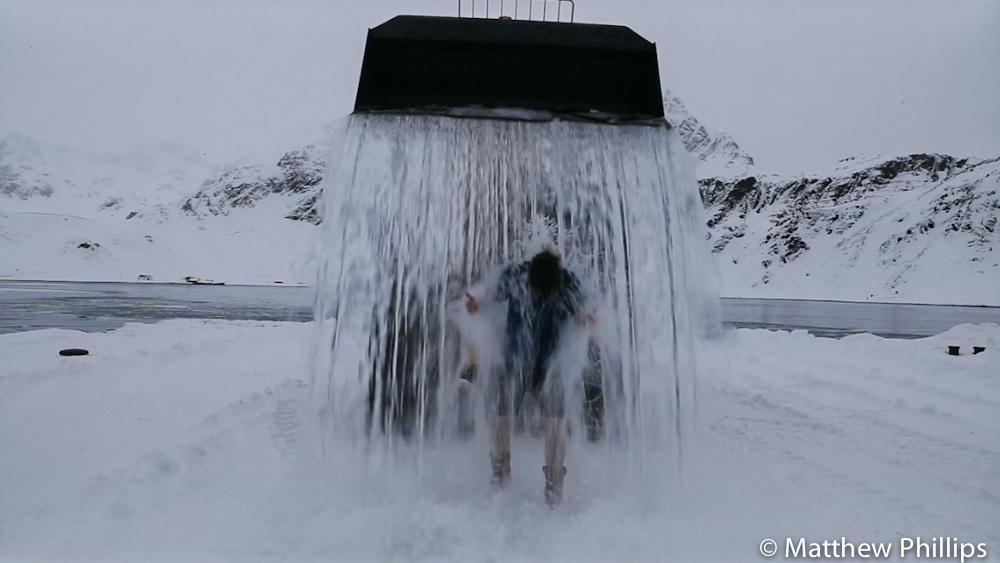 ice water bucket challenge South Georgia Antarctica