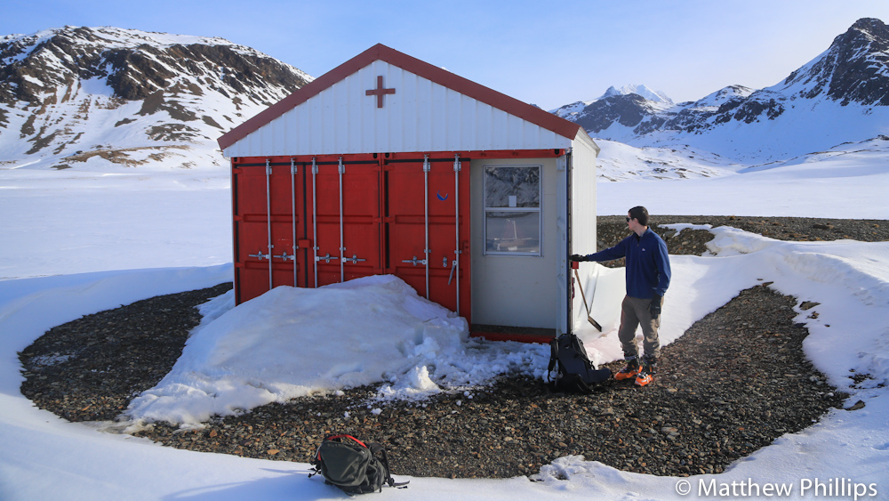 South Georgia, Antarctica, Tsunami Shelter.