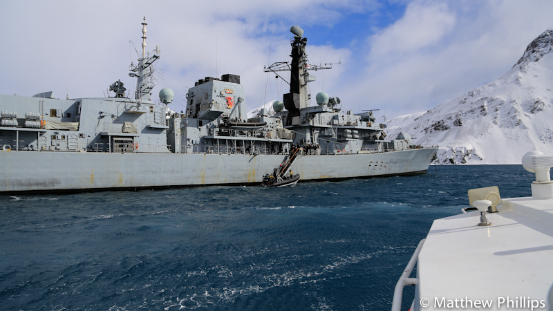 South Georgia, Antarctica, HMS Iron Duke.