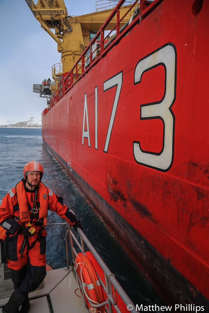 South Georgia, Antarctica, HMS Protector