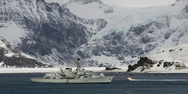 South Georgia, Antarctica, HMS Iron Duke, Jet boat