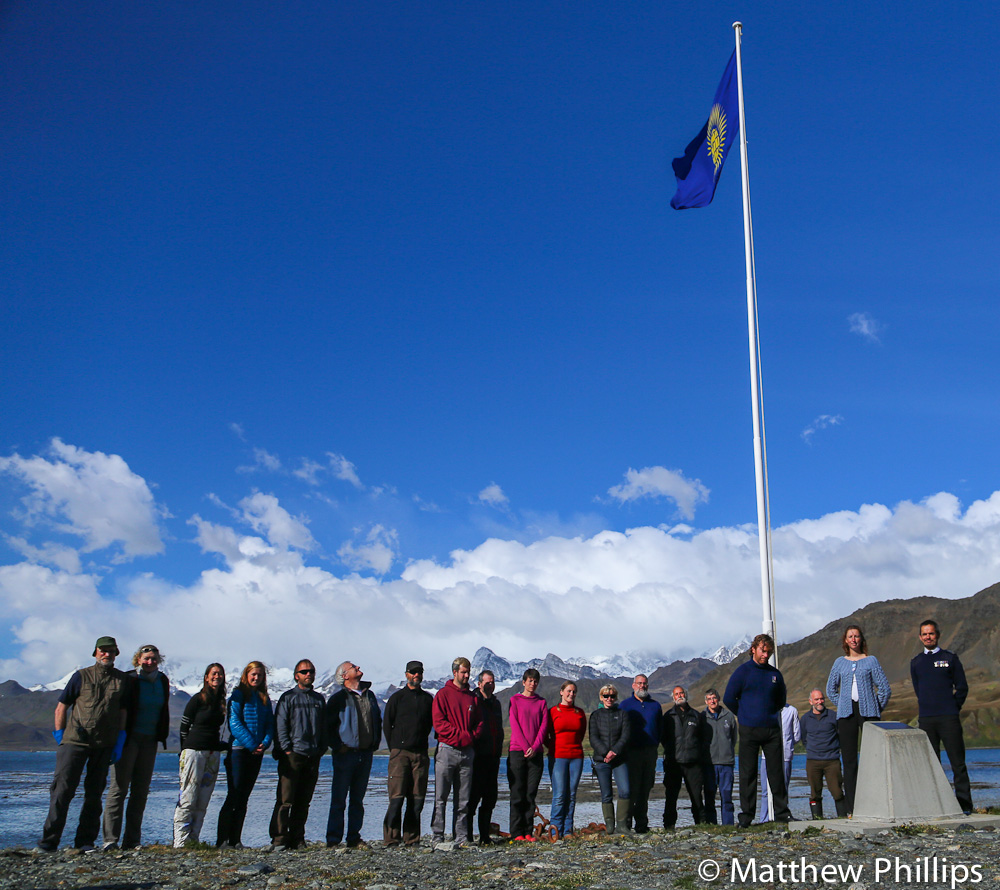 South Georgia, Antarctica, Commonwealth day 2015