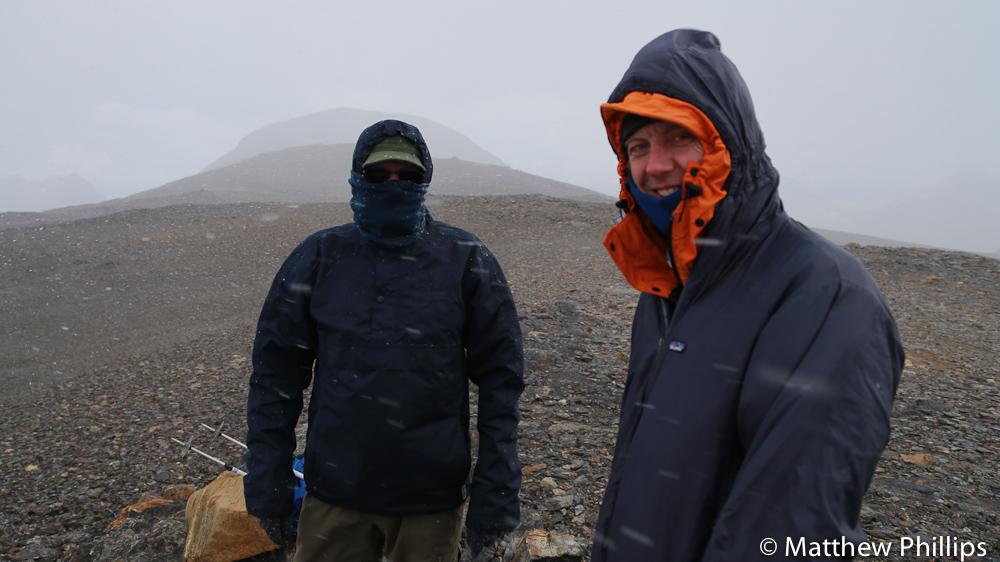 South Georgia, Antarctica, Glacier col