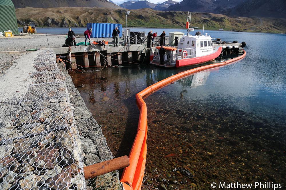 South Georgia, Antarctica, oil soil response
