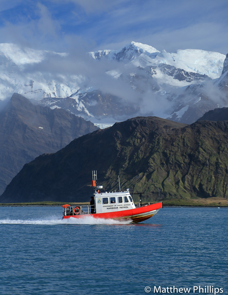 South Georgia, Antarctica, jet boat, Cumberland East bay