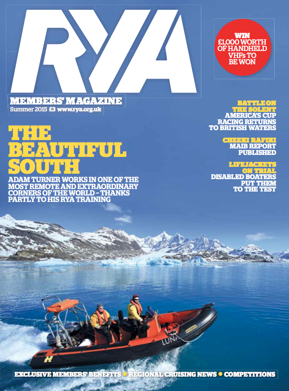South Georgia, Antarctica, RYA magazine front cover