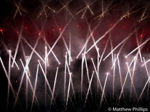 Rugby 7's fireworks.