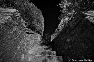 Stone staircase. Cramond, Edinburgh.